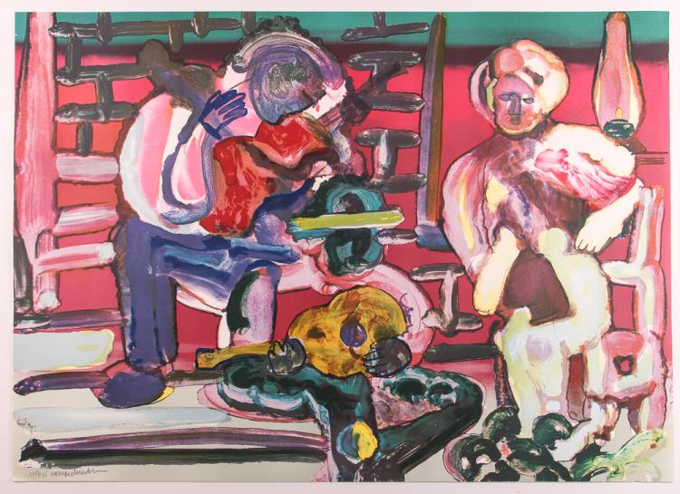 Romare Bearden LOUISIANA SERENADE orig litho from the Jazz Series