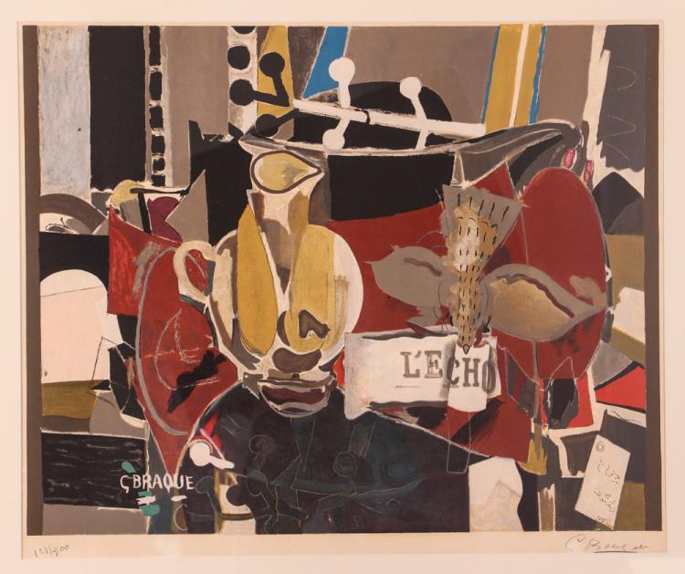 After Georges Braque L'ECHO Color lithograph
