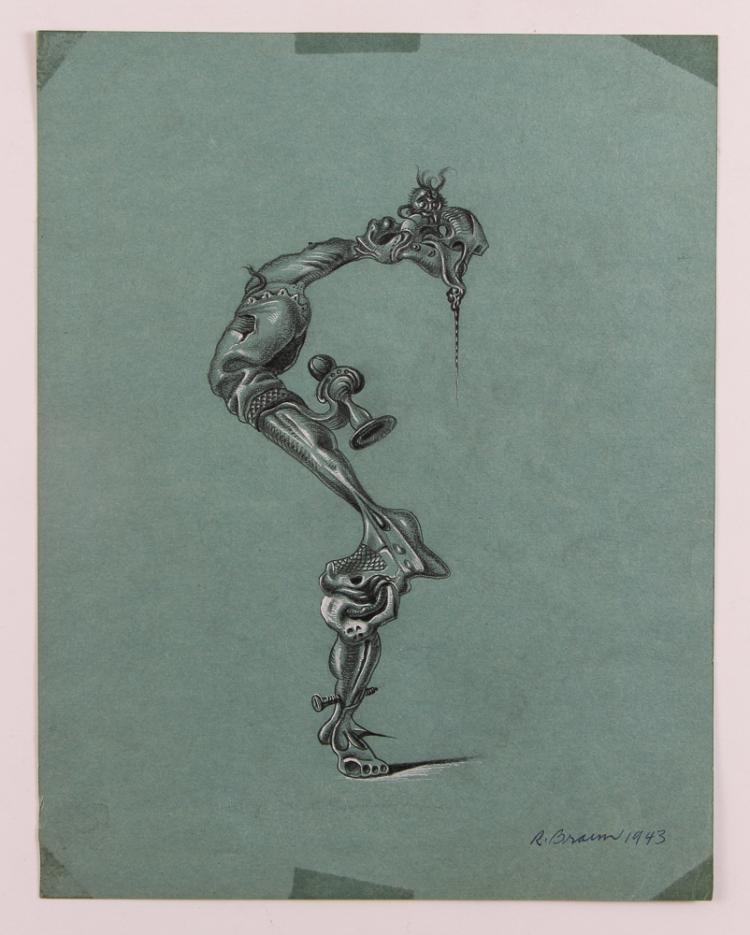 Robert Braun surrealist Figure Drawing