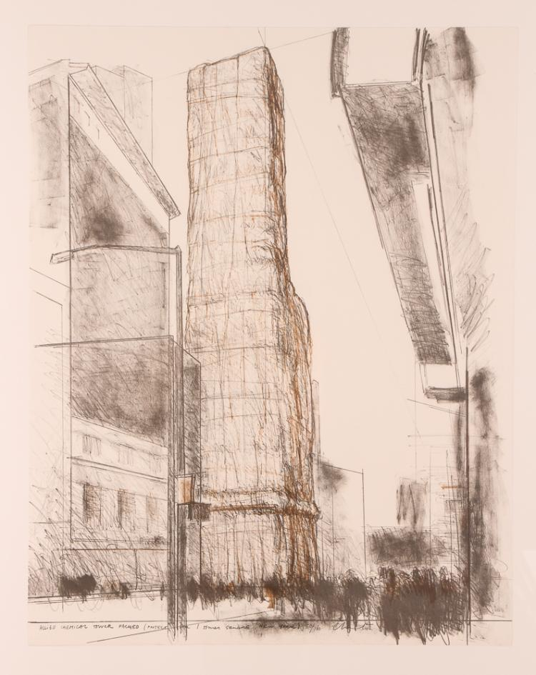 Christo 1971 signed litho