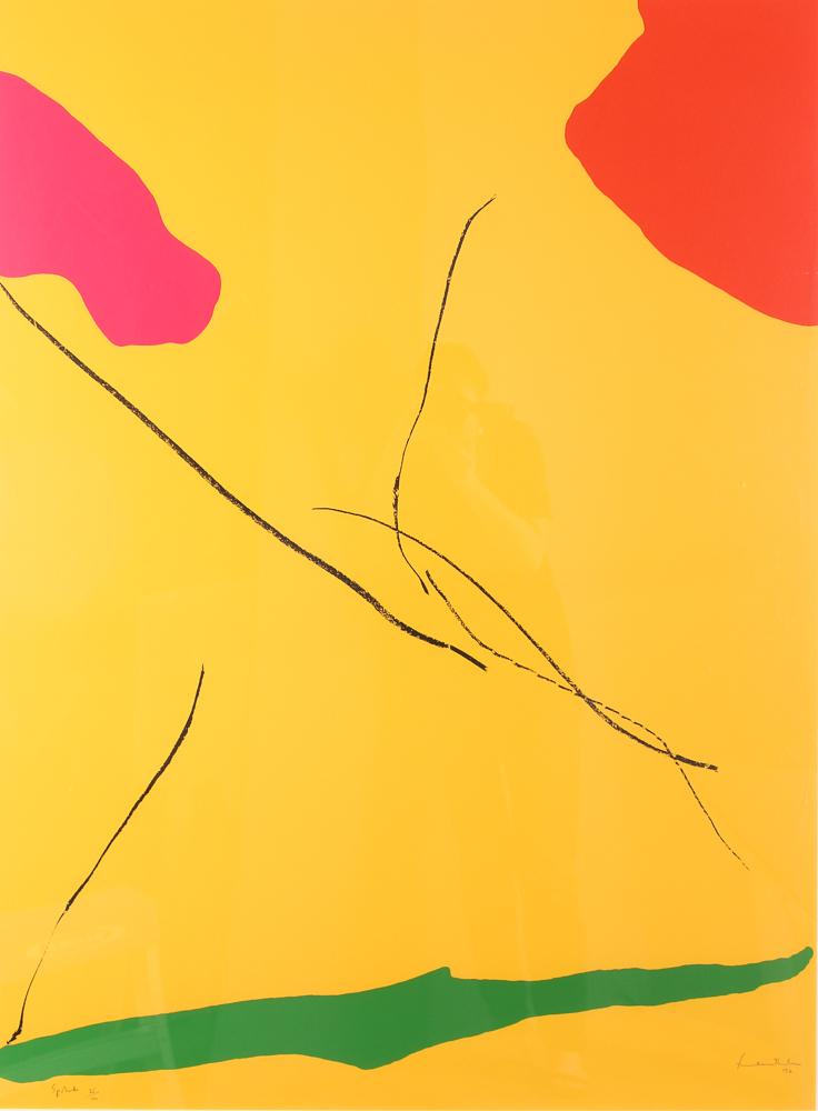 Helen Frankenthaler 1972 pencil signed  'Spoleto'