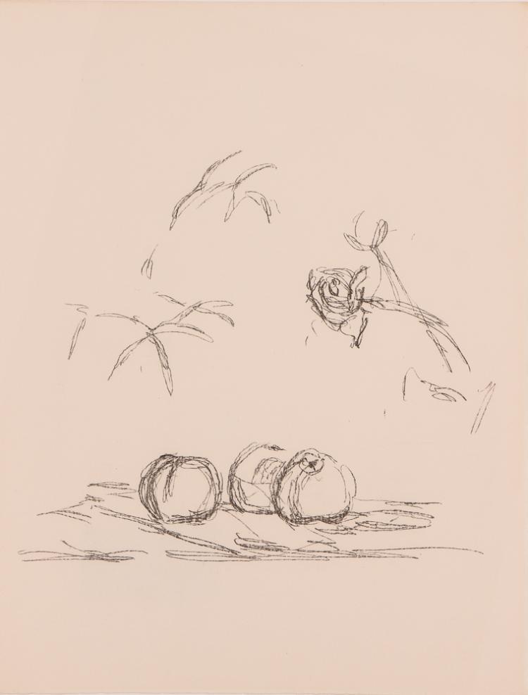 Alberto Giacometti Fleurs Mourlot Lithograph