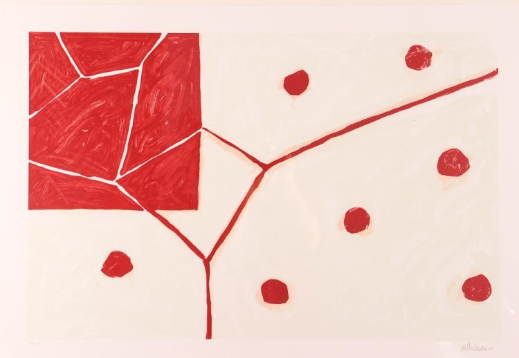 Mary Heilmann orig litho 2000,