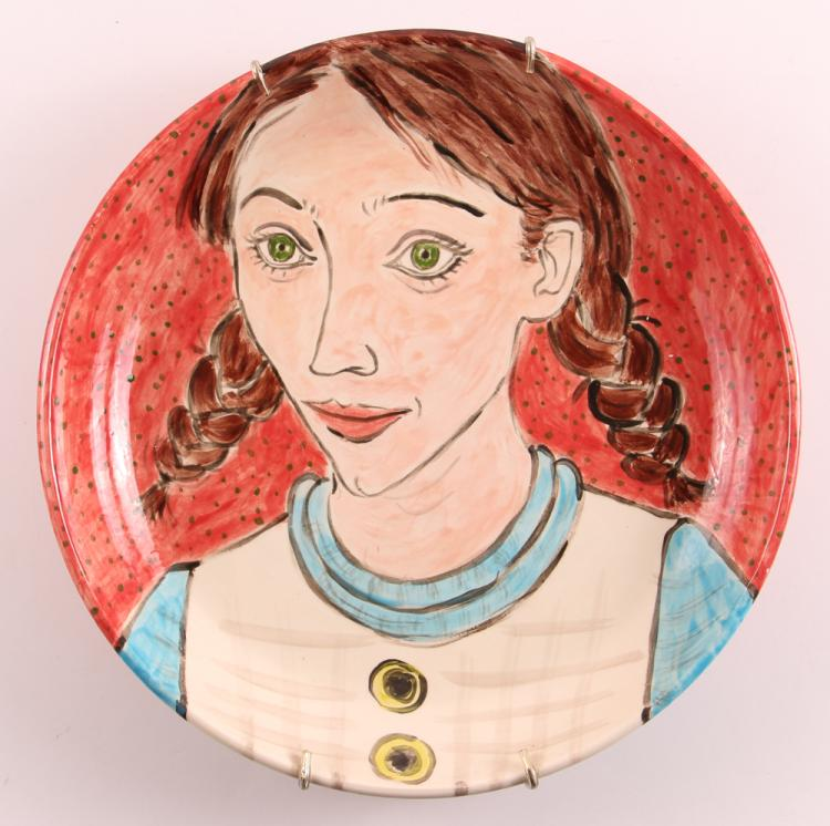 Jody Mussoff  hand painted ceramic plate