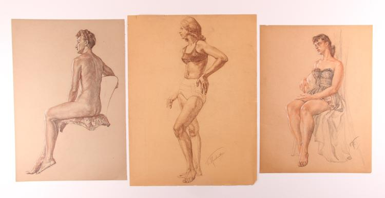 Three Vincent Nesbert Female Studies