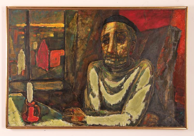 Samuel Rosenberg 1950 oil/panel