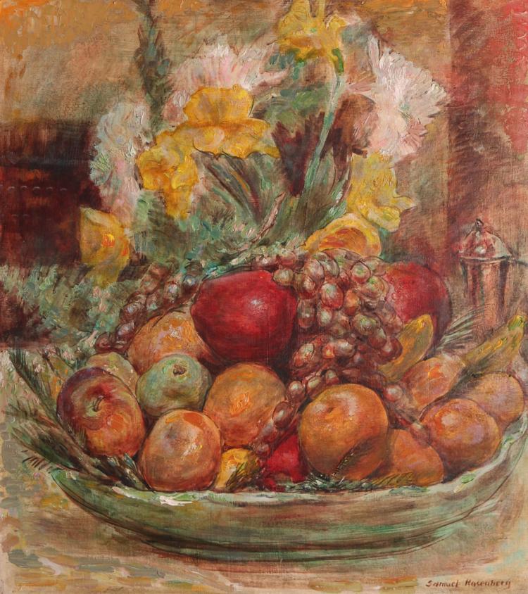 Samuel Rosenberg Modernist Still Life Painting