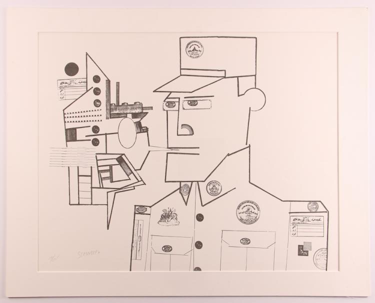 Saul Steinberg The General orig litho