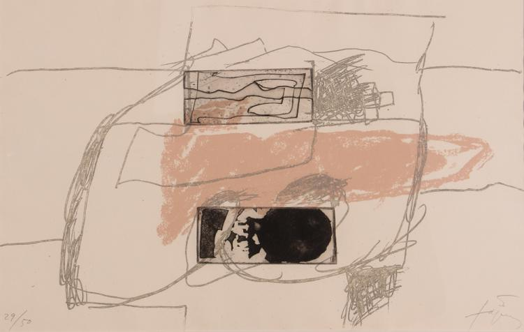 Antoni Tapies 1976 etching
