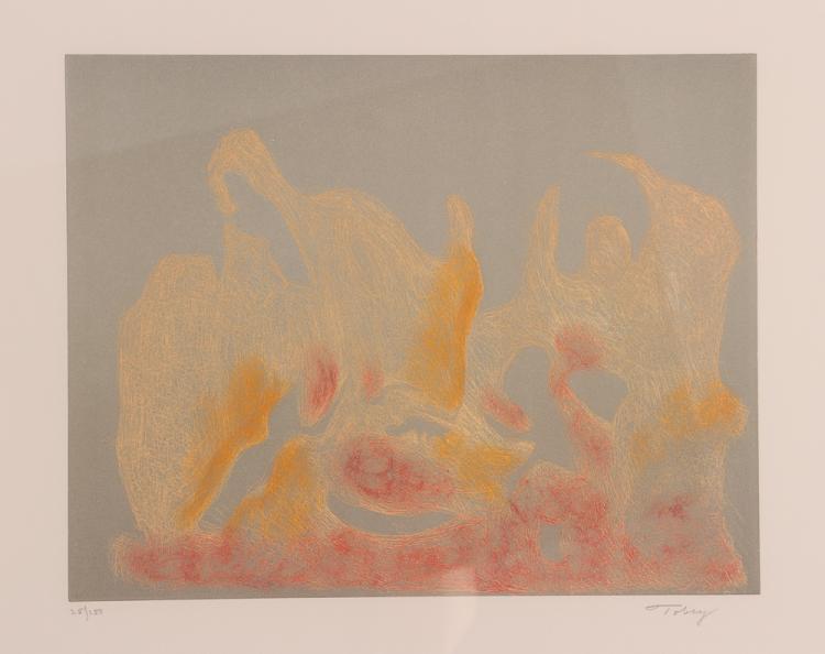 Mark Tobey orig etching
