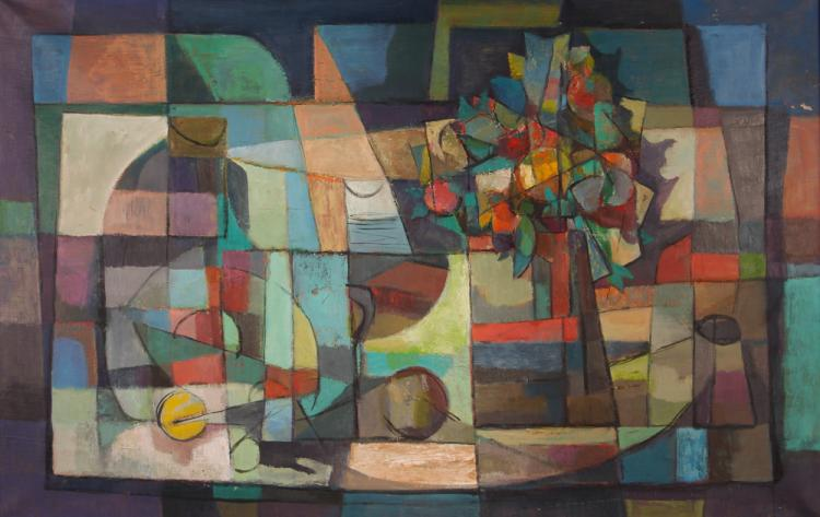 Milton Weiss 1956 painting