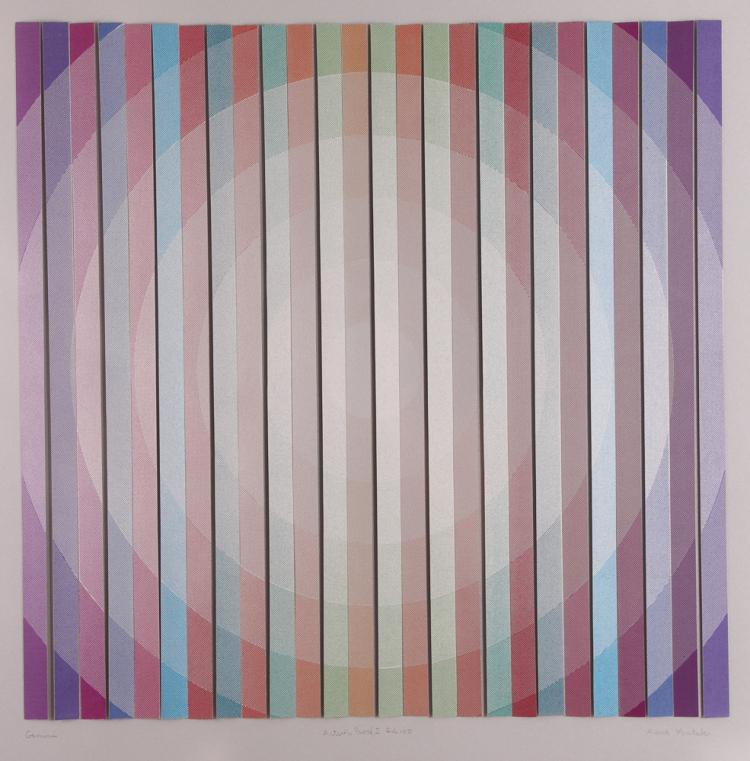 Anne Youkeles Relief Geometric Print