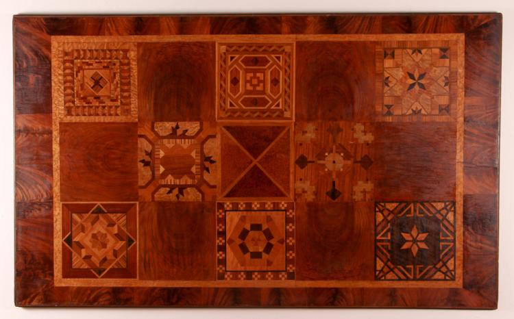 Marquetry Sampler Board or Table Top