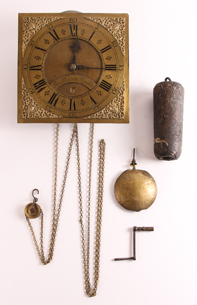 18th Century Brass Clockworks by Jn Mason