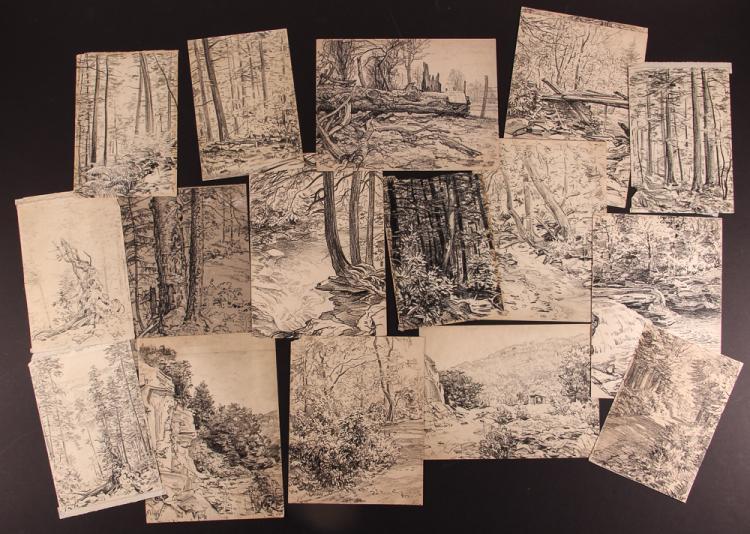 16 Andrey Avinoff  charcoal drawings