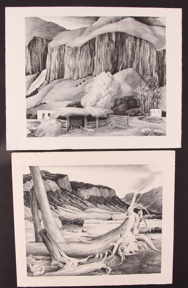 2 Wilfred Readio lithos of Colorado Mtg. Meadow and Shelter