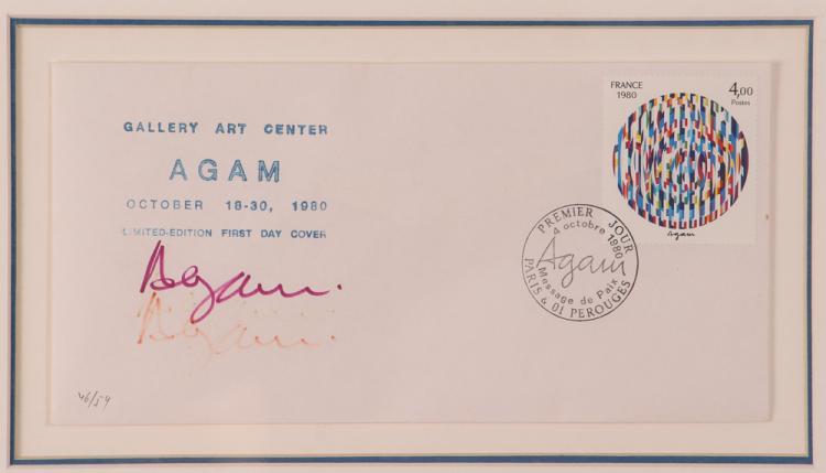 YAACOV AGAM hand-signed