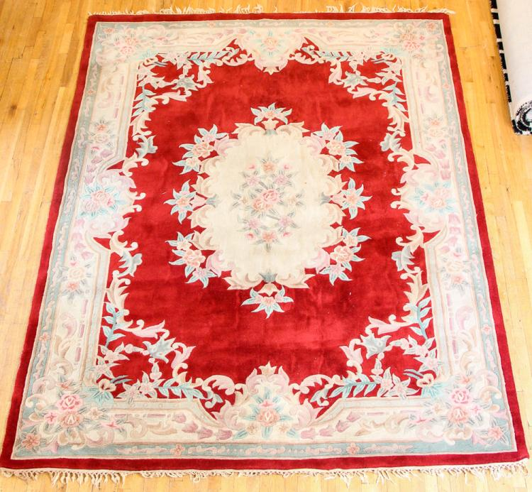 2 Chinese Tufted Wool Rugs