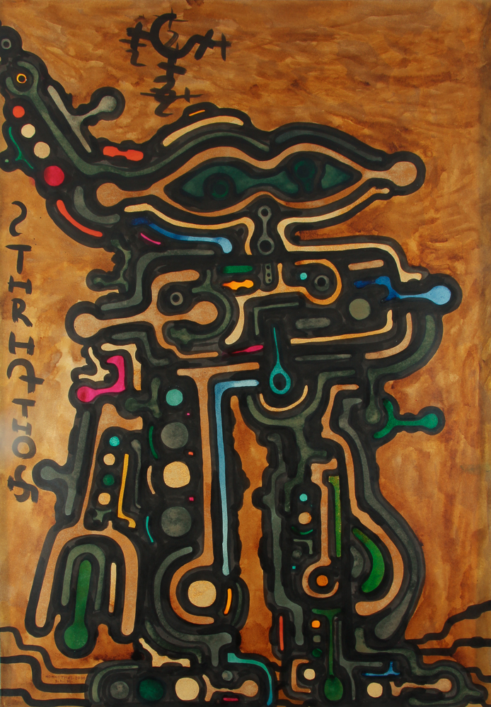 Agostini Untitled Abstract Acrylic on Paper