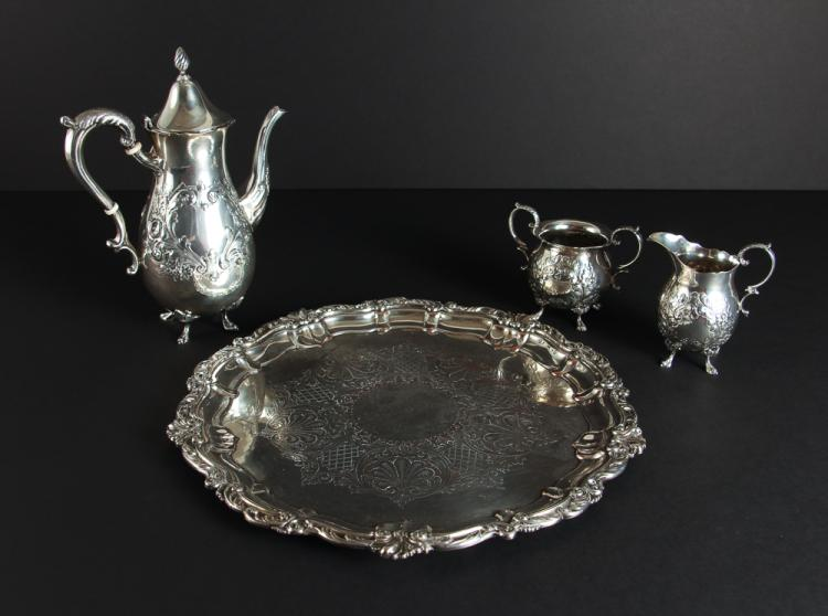 Sterling Silver Three Piece Coffee Set