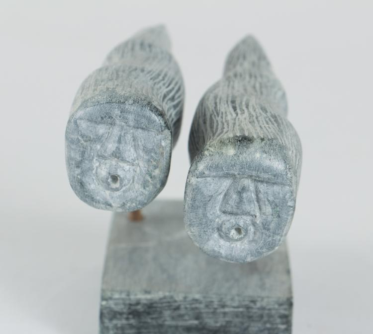 Large group inuit stone carvings