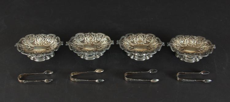 Sterling Silver Nut Dishes and Tongs