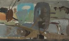 Ivon Hitchens painting Mill Pool, December Wind
