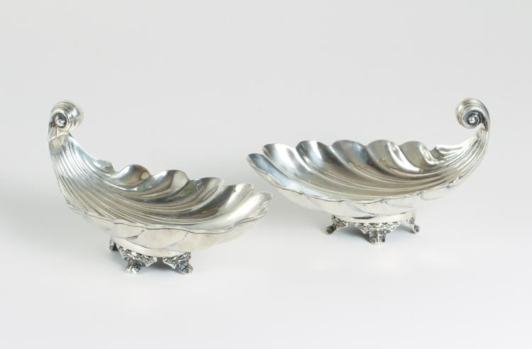 Sterling Silver Shell Shaped Dishes