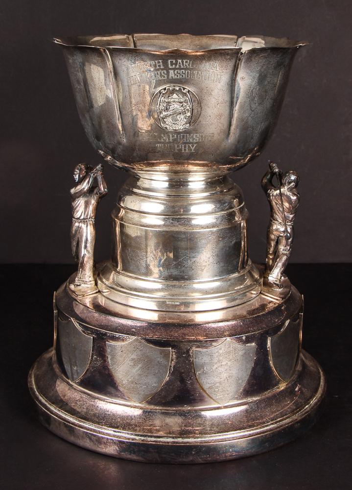 Large Pinehurst Sterling Silver Golf Trophy