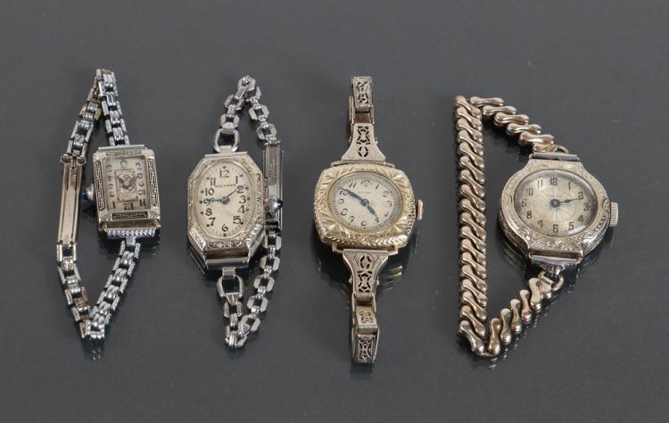 Four Art Deco Ladies Wrist Watches