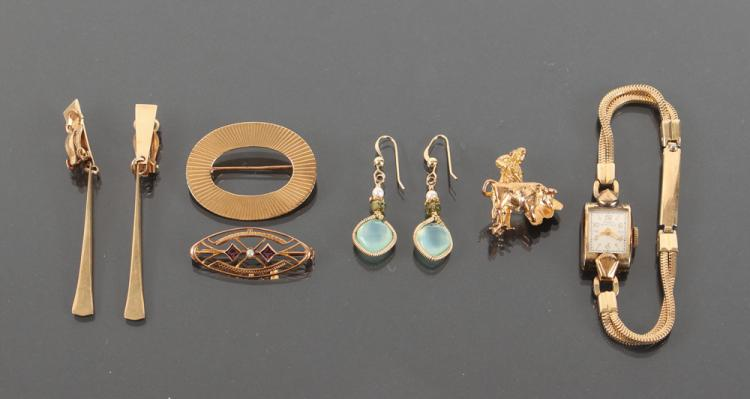 Assorted 14K Gold & Other Ladies Jewelry