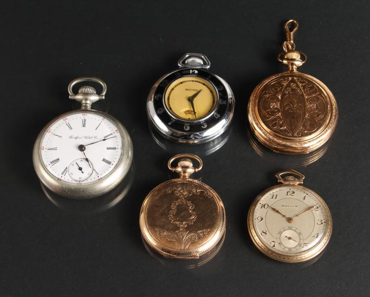 Four Vintage Men's Pocket Watches