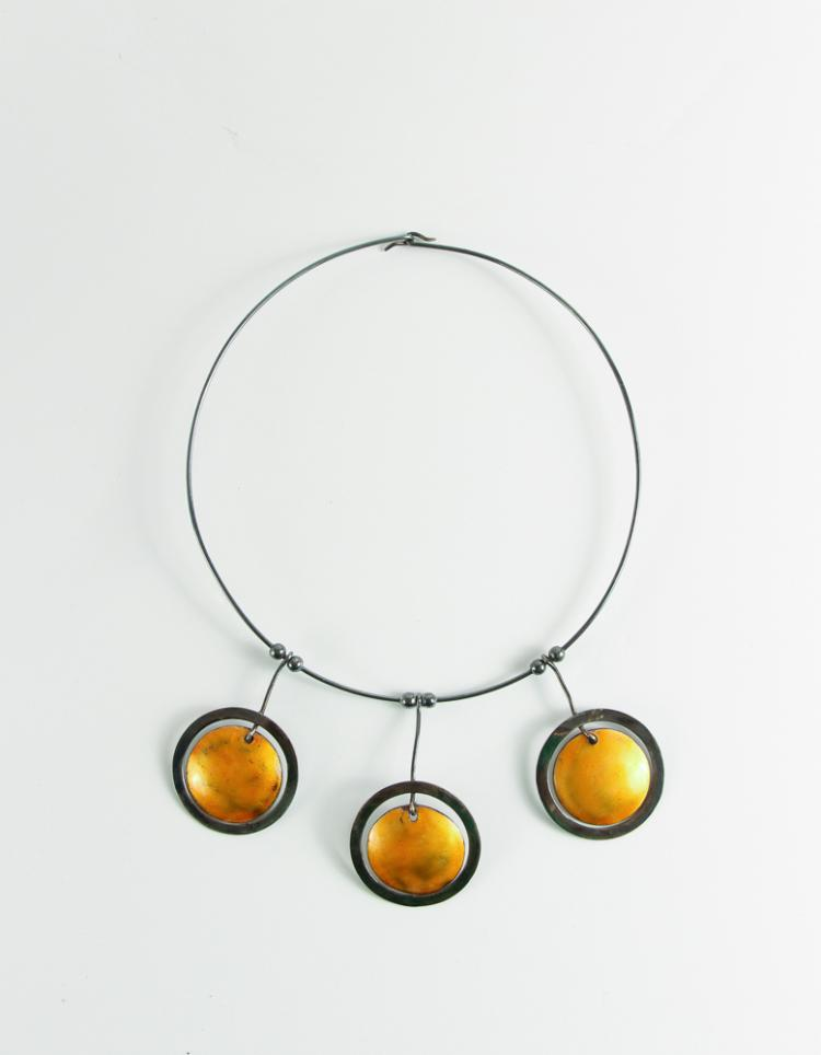 Virgil Cantini Enameled Choker Necklace 1960