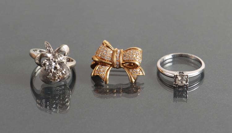 Assorted 14k Gold and Diamond Jewelry
