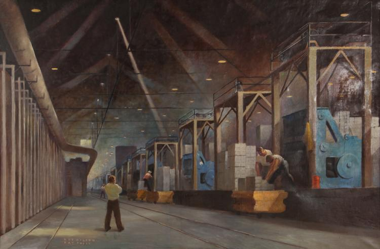 Roy Hilton and Kay Tully Industrial Scene Painting