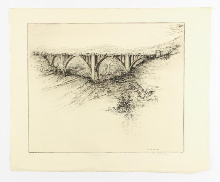 Joseph Stastny etching