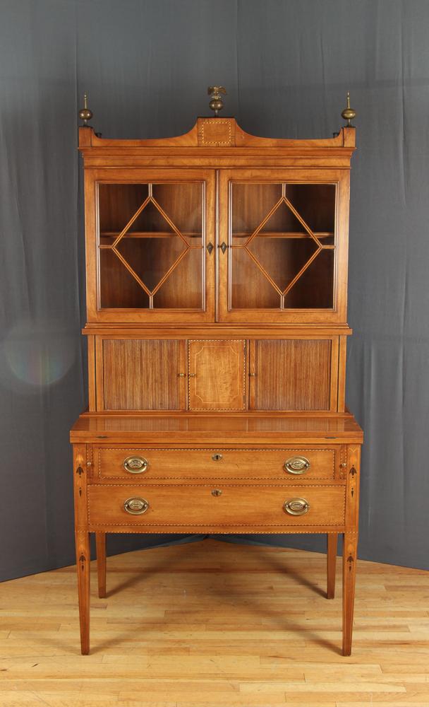 Old Colony Inlaid Secretary Bookcase