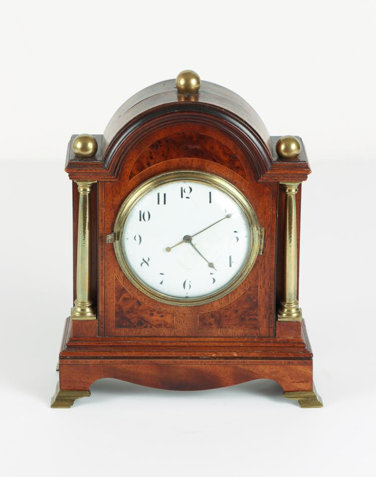 English Porcelain Dial Shelf Clock