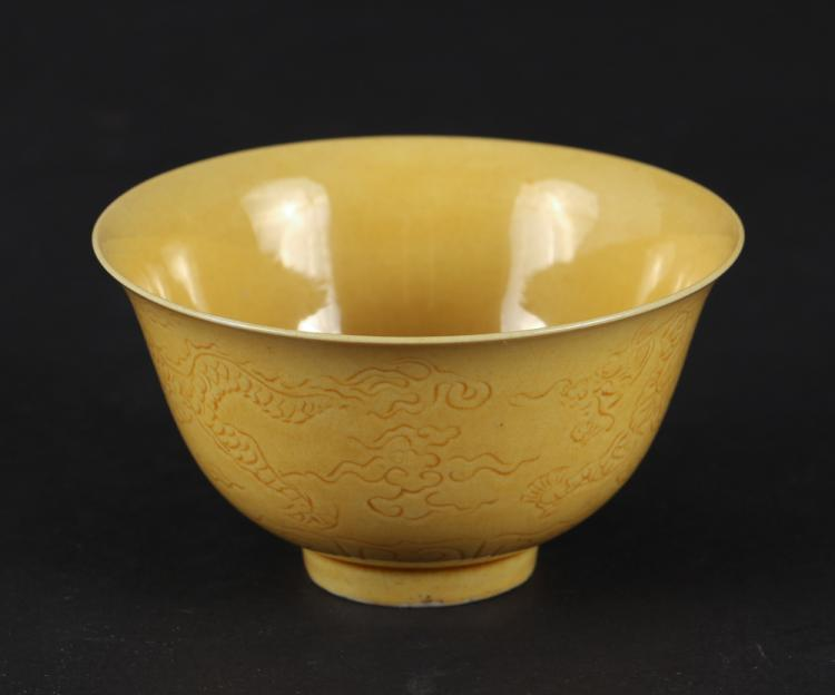 Chinese Imperial Yellow Tea Cup