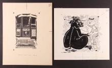 Two Chuck Livolsi Pittsburgh Themed Cartoons