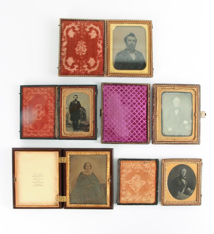 Five Distinguished Men and Woman Antique Photographs
