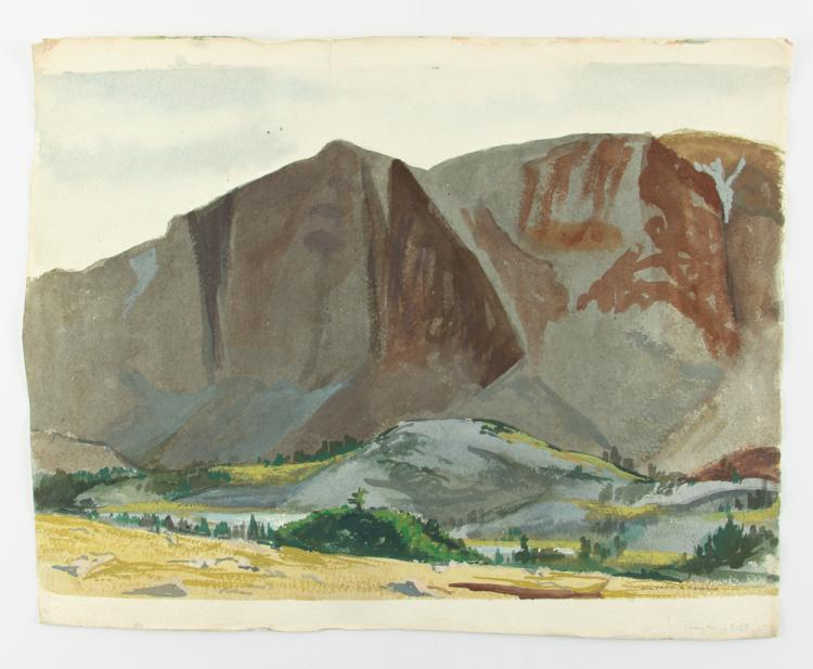 Wilfred Readio 1959 watercolor Snowy Range