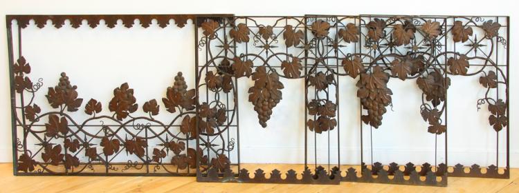 Art Nouveau Bronze Grapevine Screens