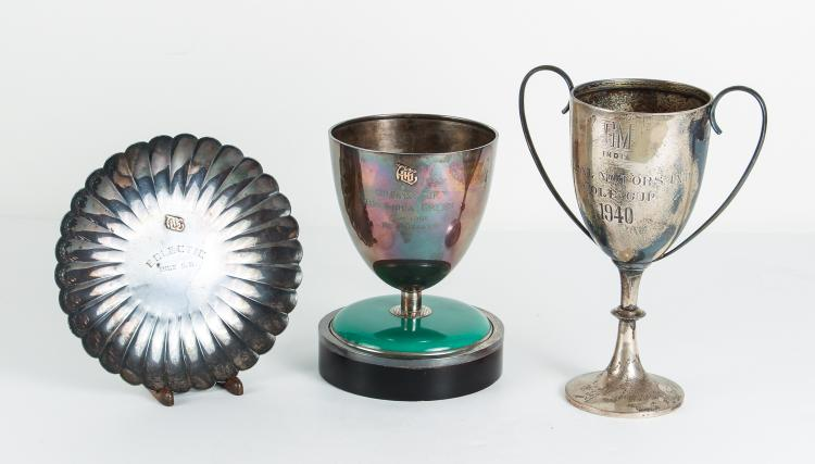 Three Asian Sterling Golf Trophies