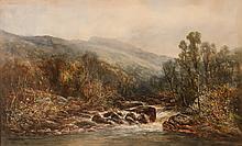 William Widgery watercolor Highland Stream