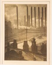 Oscar C. Reiter Pictorialist photograph; Industrial Pittsburgh