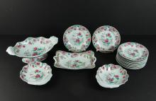 Group Spode Famille Rose Peony Pearlware China