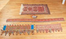 Five Vintage Asian Fabric Items