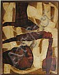 Russell Twiggs Collage Painting, Russell Gould Twiggs, Click for value