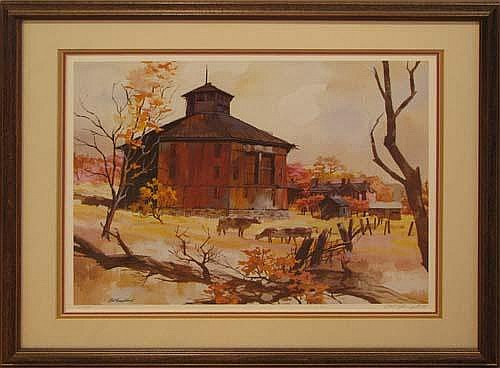 Nat Youngblood Rural Landmark Lithograph